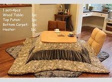 4pcssetJapanese Kotatsu Set Table Futon Heater Foot