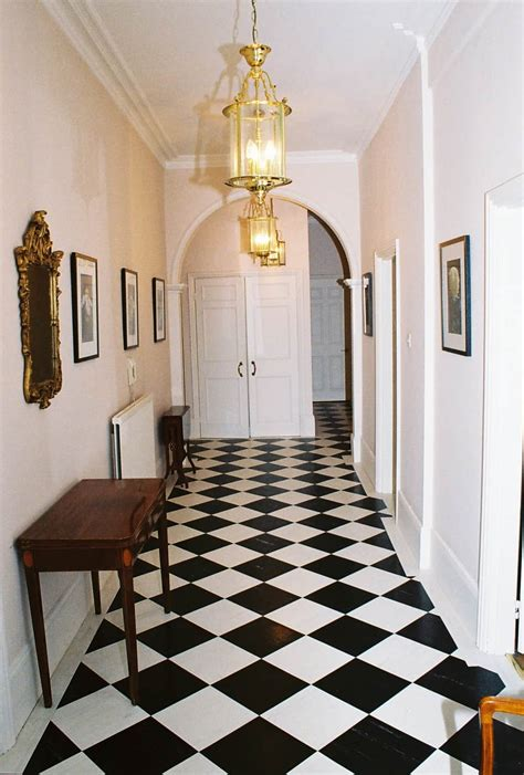 black  white hallway decorating decoration channel