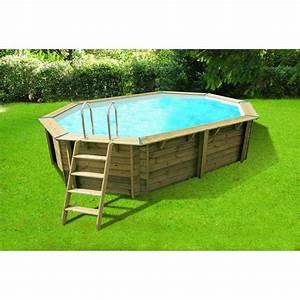 ubbink piscine hors sol bois octogonale 355x550xh120cm With prix liner piscine hors sol octogonale 5 piscine hors sol bois octogonale 355x550xh120cm azura