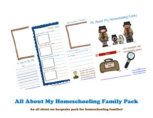 Free Printable Pack: All About My Homeschooling Family ...