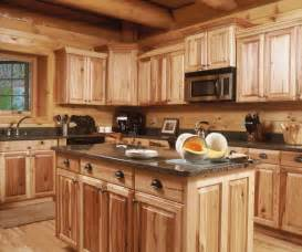 charming rustic log cabin kitchen ideas using wooden center island under black granite