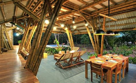 restaurant or cafe bamboo architecture design