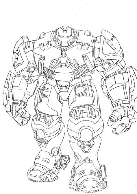ironman hulk buster  colouring pages