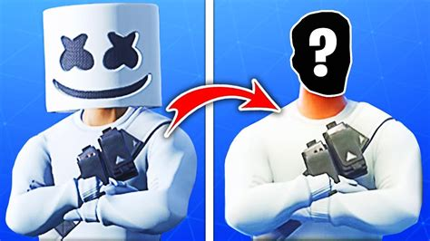 fortnite skins ohne maske marshmello youtube