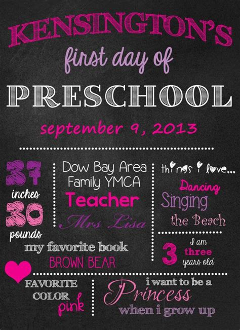 day of school chalkboard template day of school printables 1000 ideas about school signs on day
