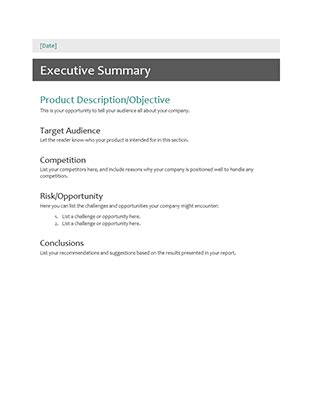 executive summary templates word excel powerpoint