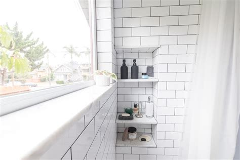 Shower Window Sill by Classic Tile In The Bathroom The Gold Hive