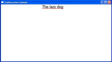 textblock underline decoration with dashes textdecoration 171 windows presentation foundation