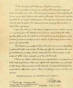 The Letter Of President Thomas