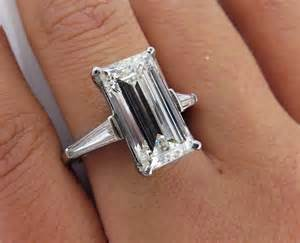 vintage emerald cut engagement rings 5 03ct estate vintage emerald cut engagement wedding ring engagement rings and wedding