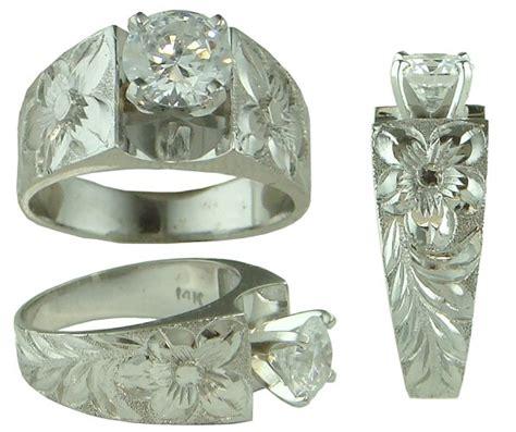 hawaiian wedding rings hawaiian heirloom jewelry 14k white gold cubic zirconia wedding engagement ring ebay
