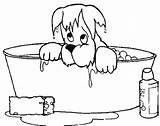 Coloring Bathtub Bath Pages Wet Dog Drawing Crayola Printable Getcolorings Soaking Getdrawings sketch template