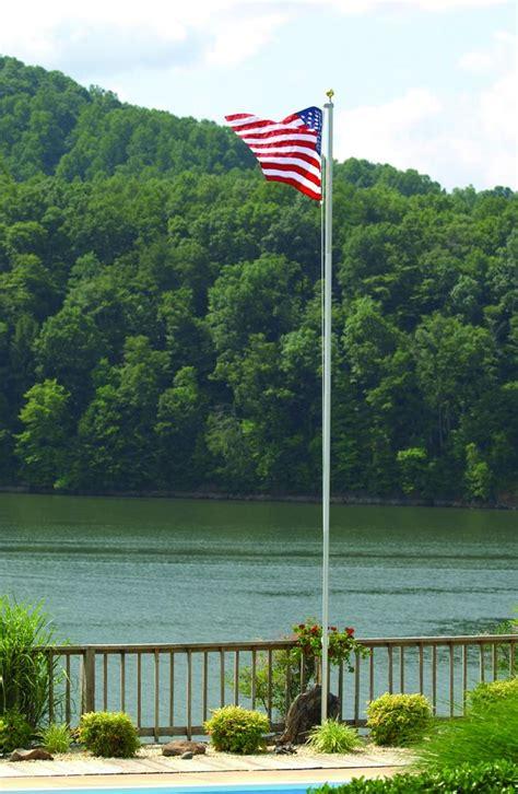 garden flag pole 20 homesteader residential in ground flag pole