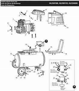 Campbell Hausfeld Parts Hl550100  Hl550195  Hl550600 Air