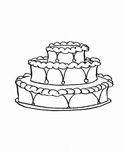 Cake Coloring Decorating Pages Worksheets Printable Cakes