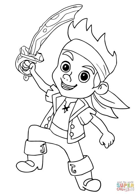 jake and the neverland coloring page captain hook jake and the neverland coloring