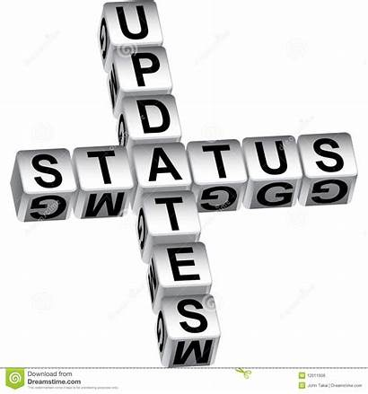 Update Clipart Status 3d Message Projects Reports