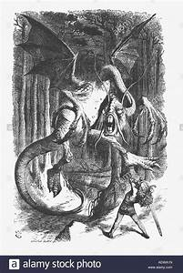Illustration of the Jabberwock from Lewis Carroll s Alice Through the Stock Photo, Royalty Free
