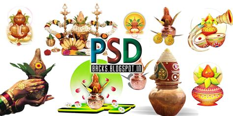 wedding kalash designs psd files  downloads psdbacks