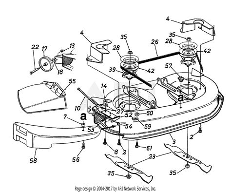 Deck Part Diagram by Mtd 13ao695g062 1998 Parts Diagram For Deck Assembly