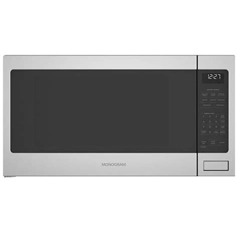 monogram  cu ft countertop microwave stainless steel pcrichardcom zesslss