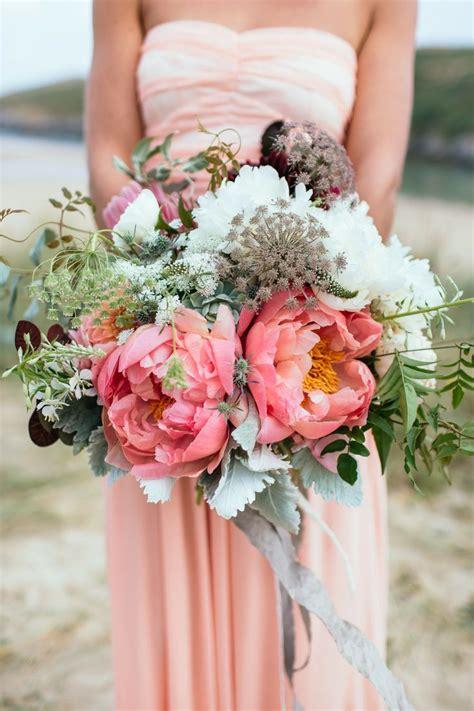 breathtaking peony wedding bouquet