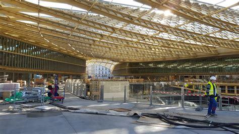 la canop 233 e du forum des halles pos 233 e place aux nouveaux commerces d 233 but avril