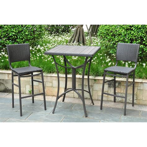 outdoor furniture table and chairs furniture bar counter height condo balcony patio