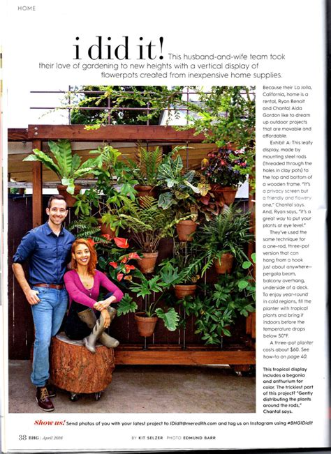 Vertical Garden Better Homes And Gardens by How To Turn Your Clay Pots Into A Vertical Garden The
