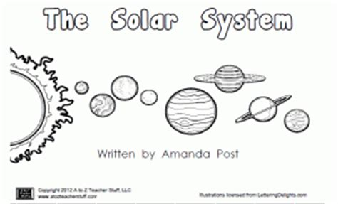 printable book   planets  solar system