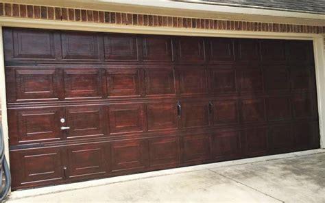 Brown Mahogany Garage Door   General Finishes Design Center