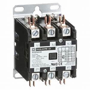 Square D 8910dpa43v09 208  240vac Non-reversing Definite Purpose Contactor 3p 40a