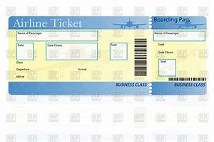 airline ticket template royalty free vector clip art image With flight ticket template gift