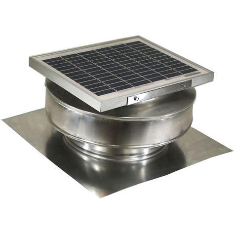 vent exhaust fan to attic active ventilation 365 cfm mill finish 5 watt solar
