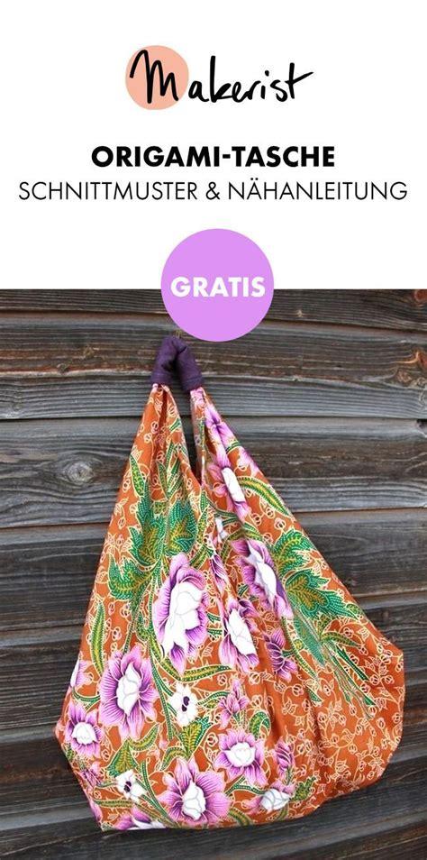 gratis origami tasche n 195 164 hen schnittmuster und n 195 164 hanleitung via makerist de nadel faden