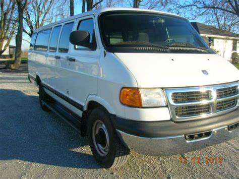 buy car manuals 2002 dodge ram van 3500 spare parts catalogs buy used 2002 dodge 3500 15 passenger 15 van in kokomo indiana united states for us 8 200 00