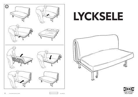 user manual ikea lycksele frame sofabed 14 reviews for