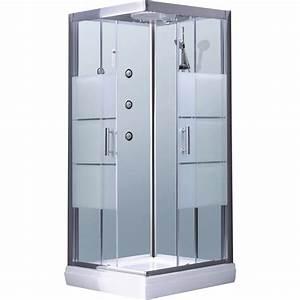 Cabine De Douche Rectangulaire : cabine de douche carr 90x90 cm optima2 blanche leroy ~ Melissatoandfro.com Idées de Décoration