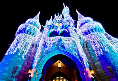 cinderella castle lights disney photo of