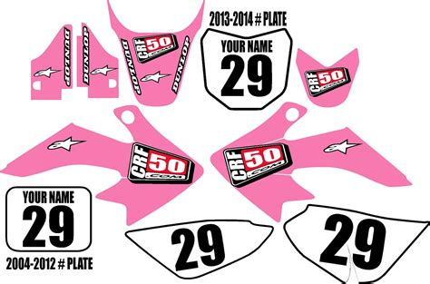 Factory effex sponsor sticker kit monster energy. Honda CRF 50 Graphic Kit Pink Clean Series
