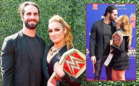 mtv  tv awards  wwe couple seth rollins