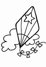 Kite Coloring Pages Printable Flying Clipart Star Preschool Patten Kites Az Frida Kahlo Spring Getcoloringpages Clipartmag Popular sketch template