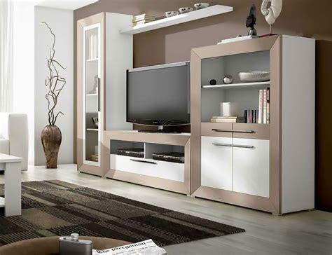 mueble de salon moderno en blanco  vison