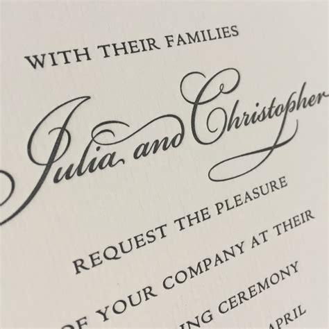 julia wedding invitations wedding stationery