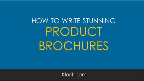 write software product brochures examples