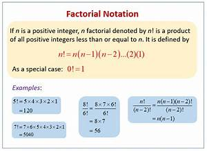 Factorial  Examples  Solutions  Videos