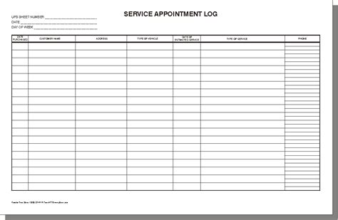 log template 3 excel service log templates excel xlts