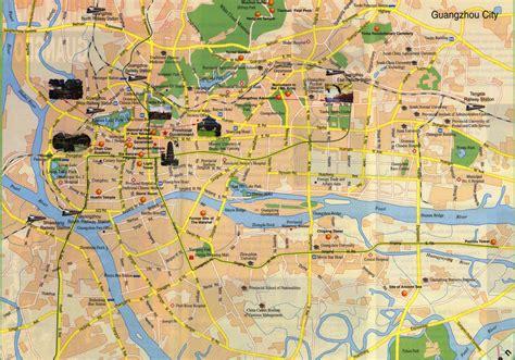 guangzhou map map  guangzhou china guangzhou city