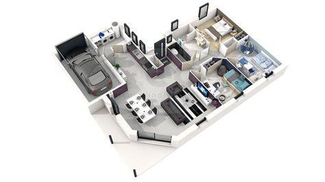 Plan D Une Maison En 3d Plan De Maison Moderne 3d
