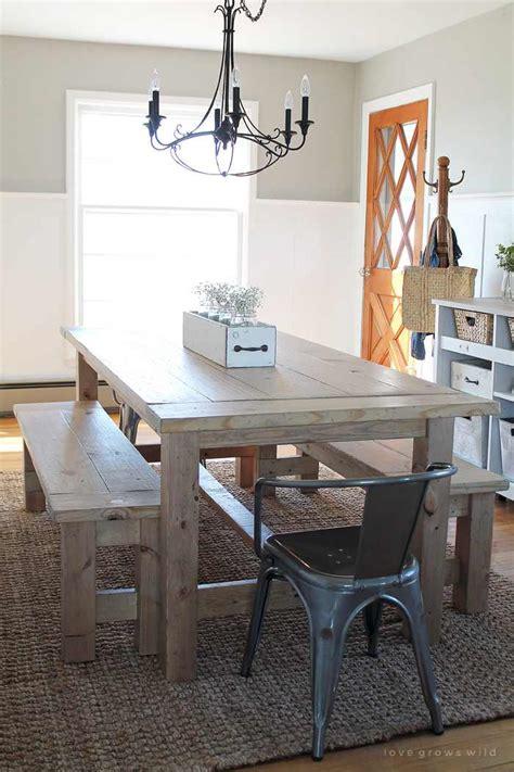 Farmhouse Kitchen Tables To Diy With Amazing Farmhouse